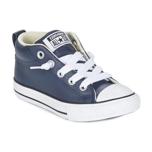 749a659d82a gave Converse chuck taylor all star street cuir mid jongens sneakers (Blauw)