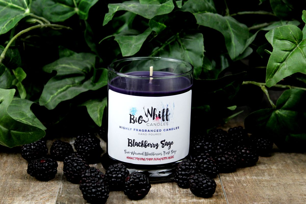 Berries & Cream - Scented Candles, Handmade Candles, Scented Candle, Aromatherapy Candles, Berries Cream Candle, Blackberry Candle