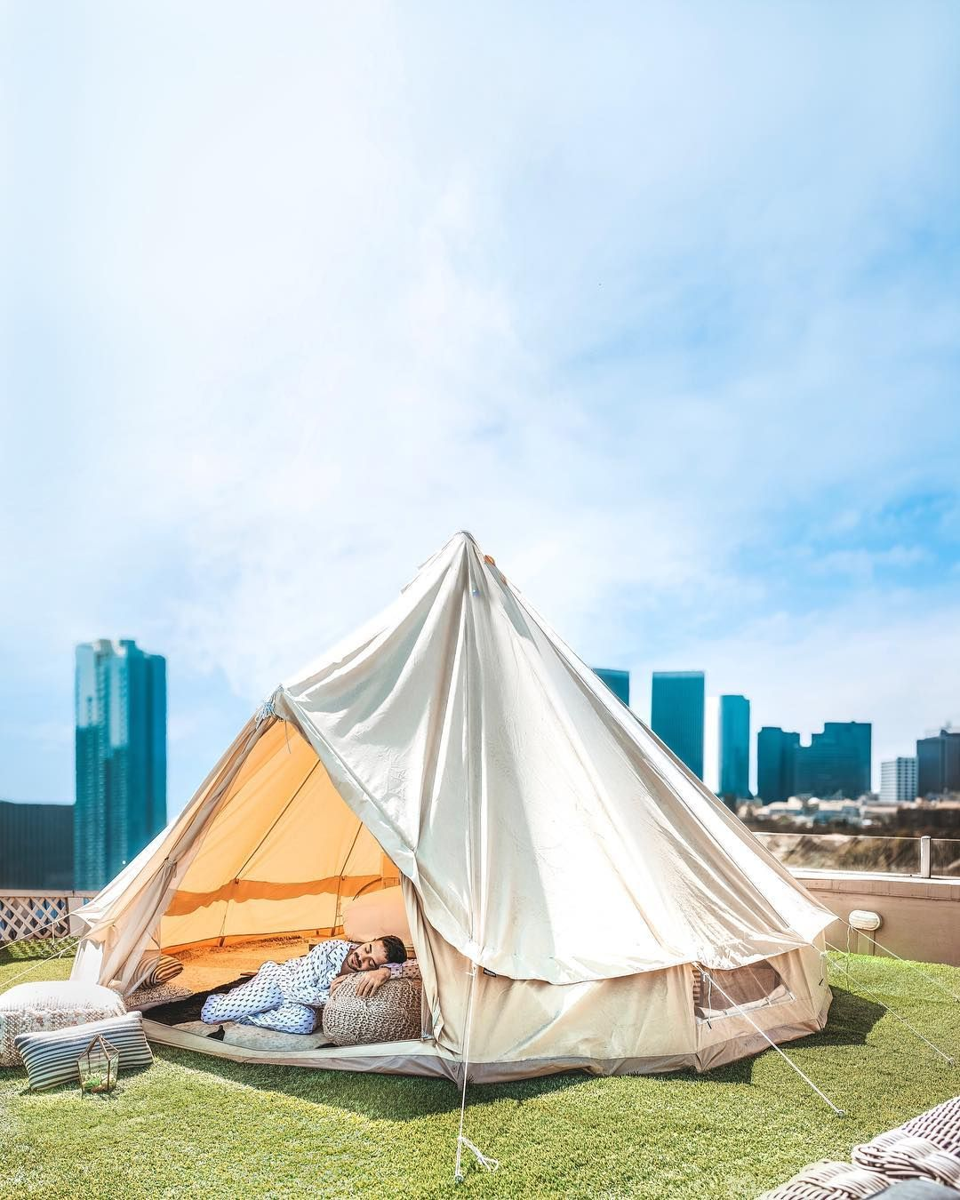 Every Glamping Spot That Needs to Be on Your Radar for 2019   We're excited about a lot of tented campsites this summer, from a luxurious bubble tent in the Maldives to a Bedouin safari camp in Wadi Rum. So, grab your crew and get on out there under the stars.   Photo: @followthenap