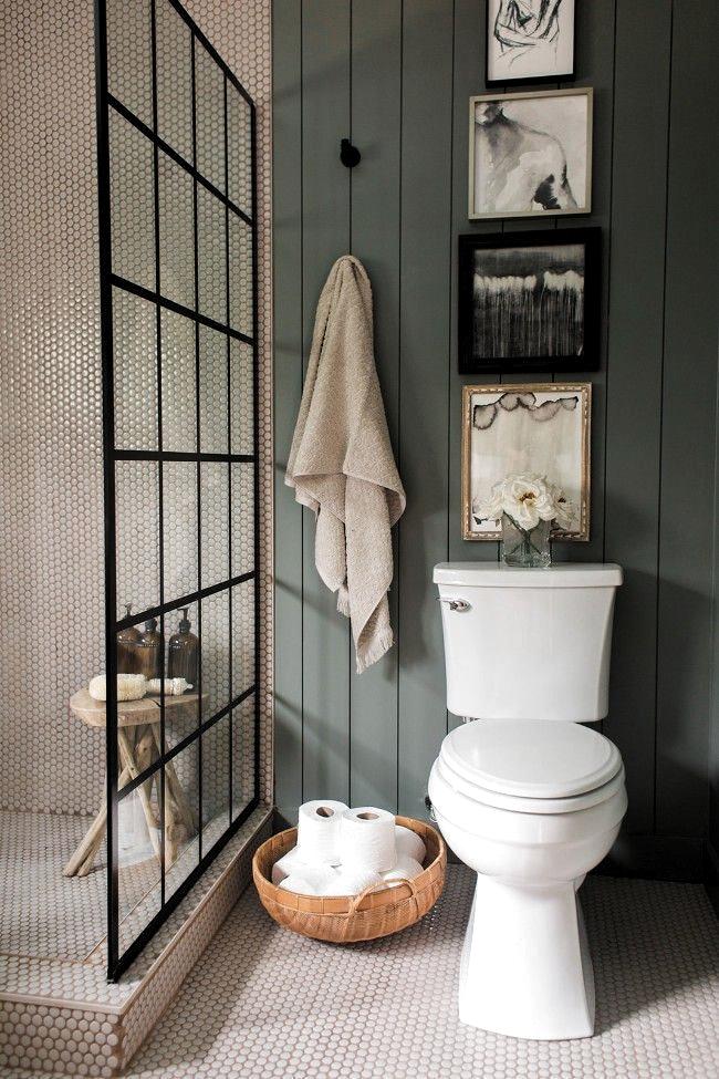 Unique, warm master bathroom reveal, bathroom with gray ... -  Unique, warm master bathroom reveal, bathroom with gray …,  #bathroom #unique #revelation #grey # - #ArtLessons #bathroom #Design #FamousArtists #gray #InteriorDesign #master #reveal #unique #warm