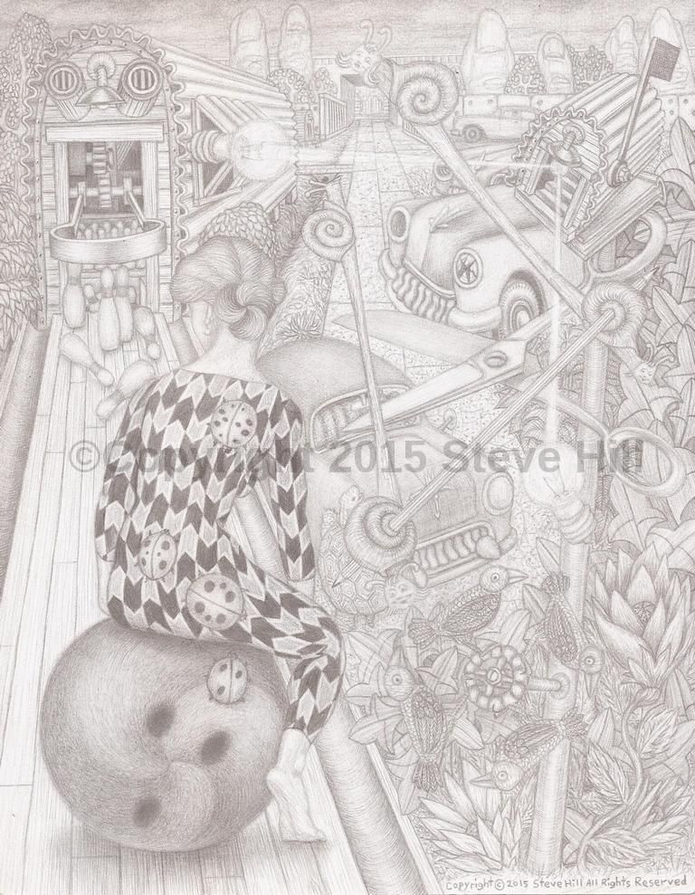 #surreal #fineart #pencildrawing #blackandwhitedrawing