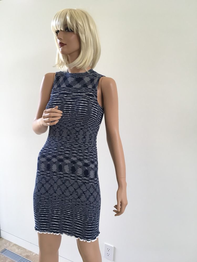 c178ded8cdf See By Chloe navy   white dress size small  SeeByChlo