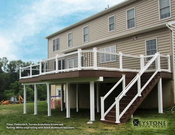 Best Brown And White 2 Story Deck Google Search With Images 400 x 300