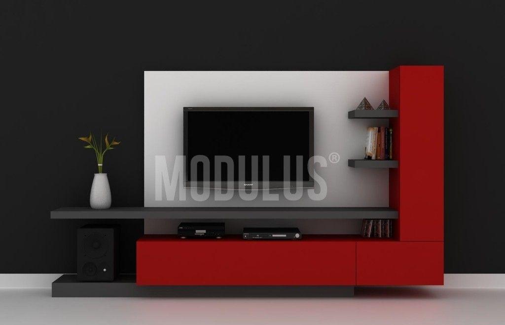 Resultado de imagen para muebles en panel para televisor for Murales salon modernos