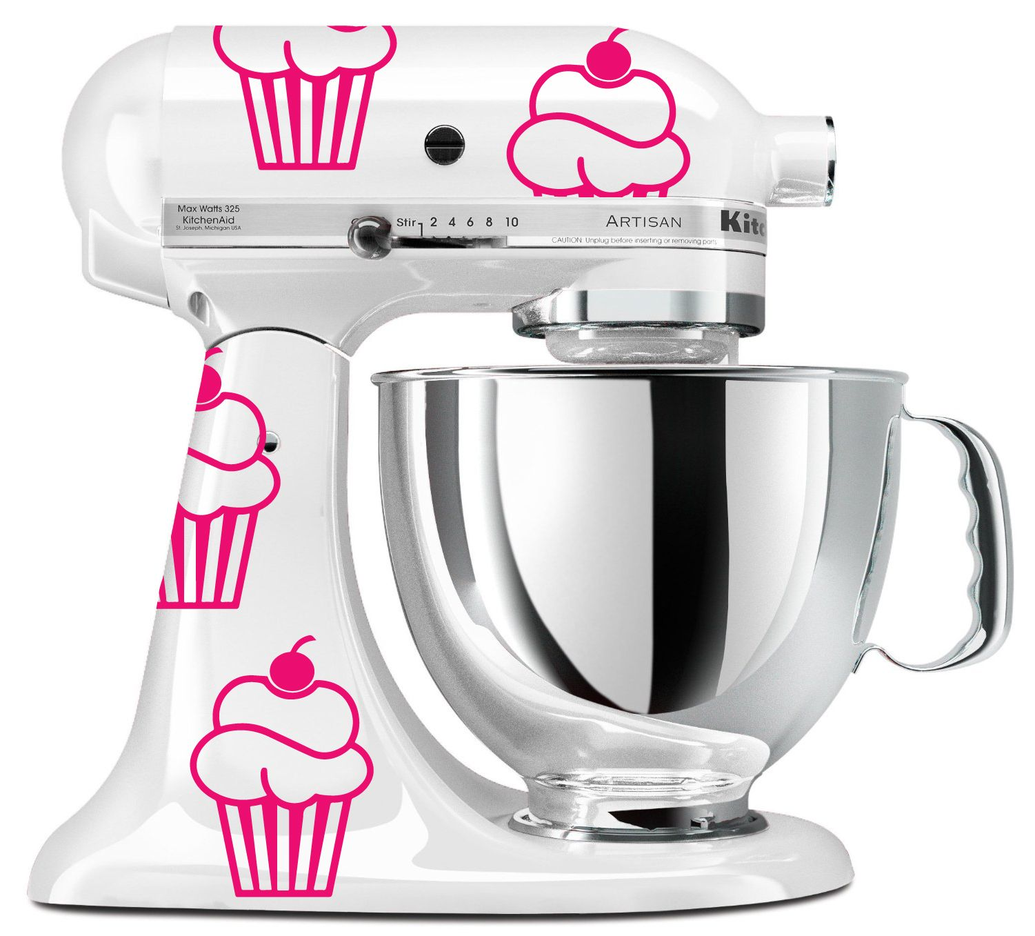 Kitchen Art Mixer: KitchenAid Sweet Cupcake Vinyl Decals- Set Of 9