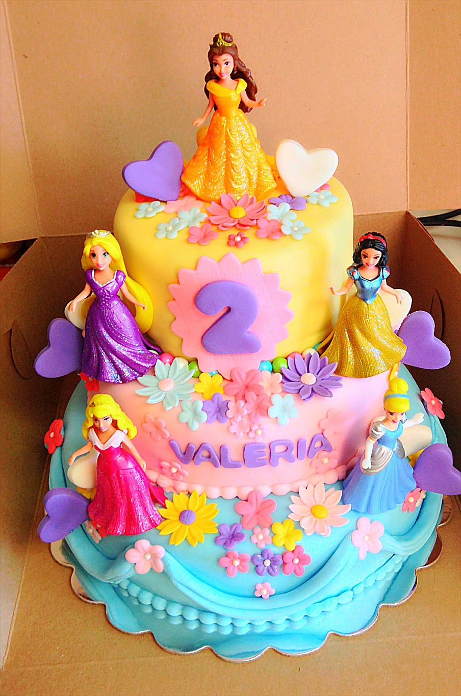 Valerias disney princess cake Icing Sugar Dust Pinterest