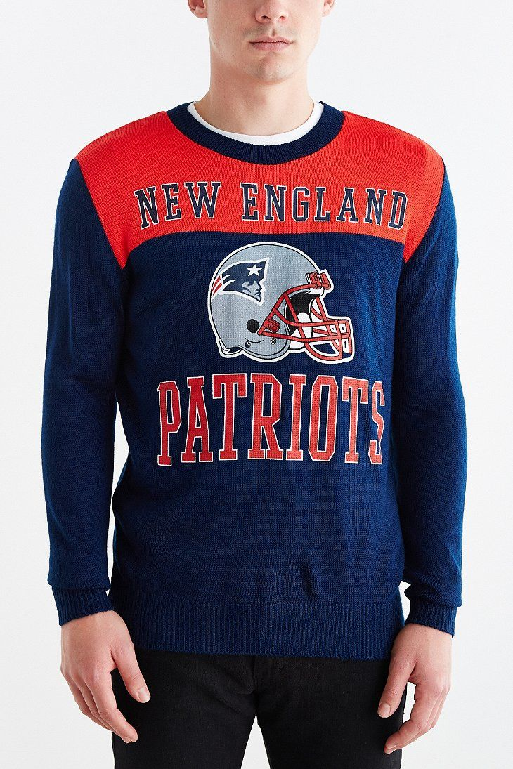 Junk Food NFL New England Patriots Crew Neck Sweater - Urban Outfitters 072c67733