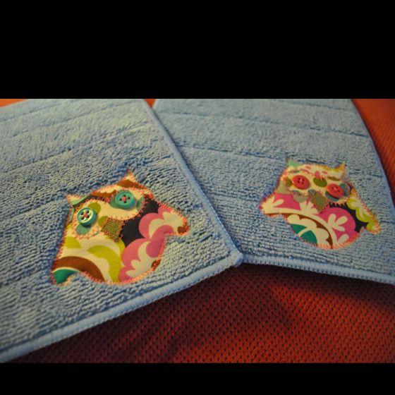applique owl dish towels | sew fabulous, dish towels, applique