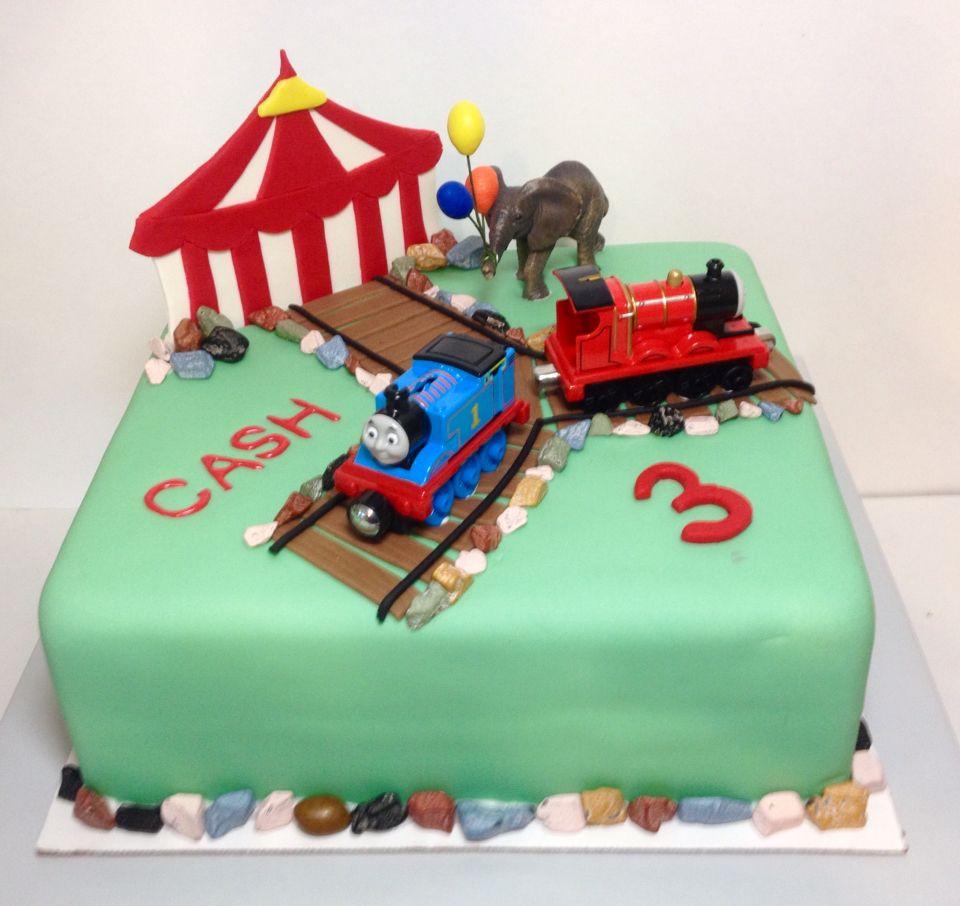 Thomas the train Circus cake