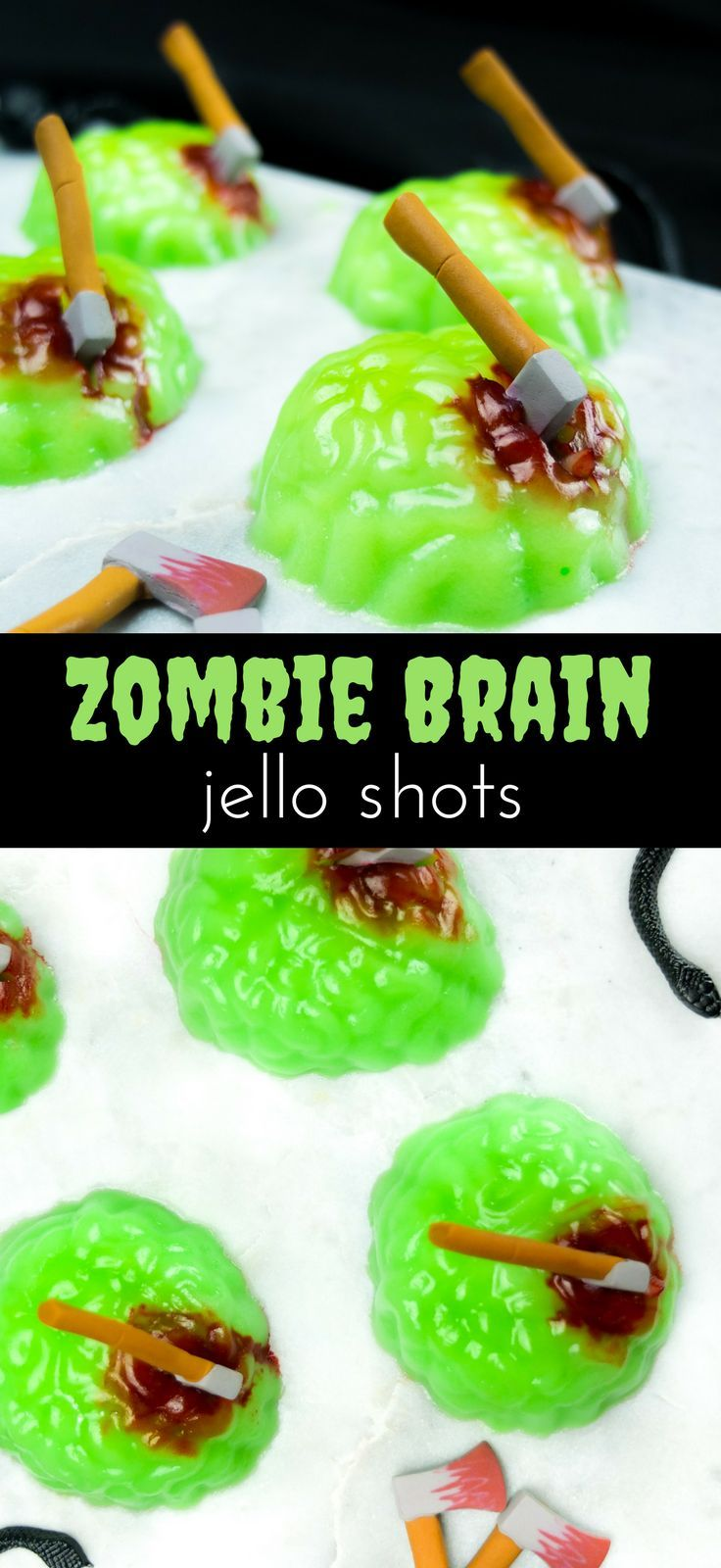 Zombie Brain Jello Shots | Elle Talk #halloweenjelloshots