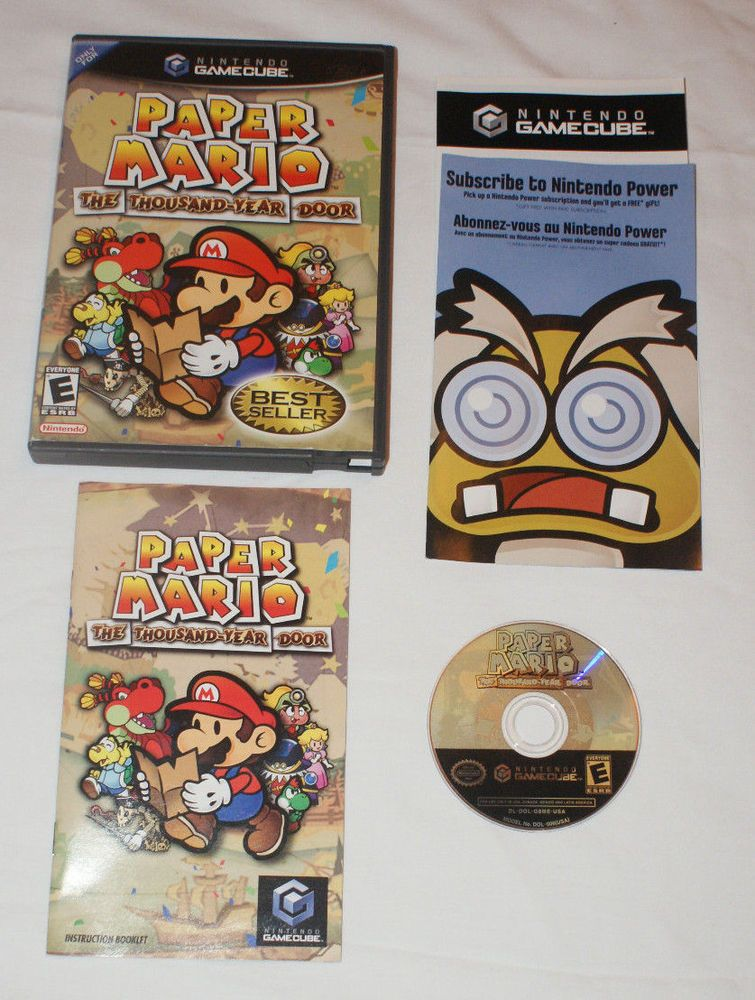 Paper Mario The Thousand Year Door Gamecube 100 Complete Game Manual Inserts Paper Mario Gamecube Paper