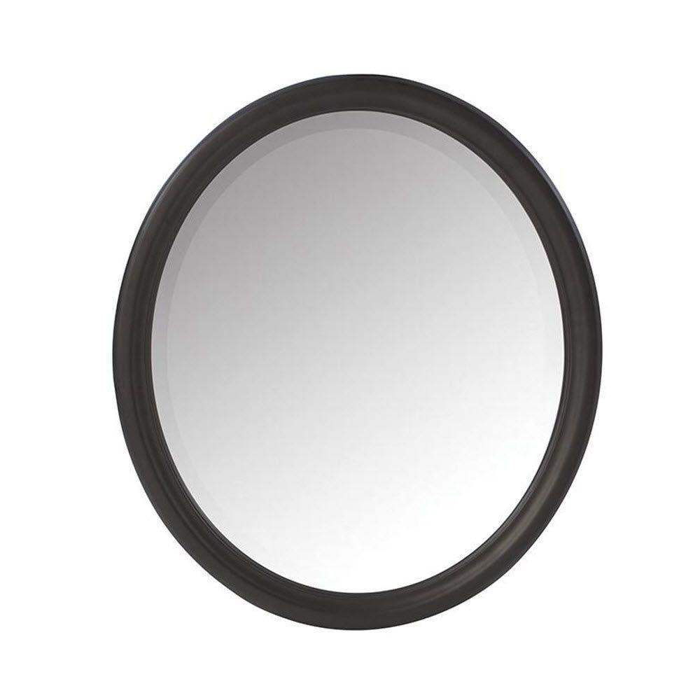 Home Decorators Collection Newport 32 In H X 28 In W Framed Wall Mirror In Black 1972800210 The Home Depot Framed Mirror Wall Lighted Wall Mirror Mirror Design Wall