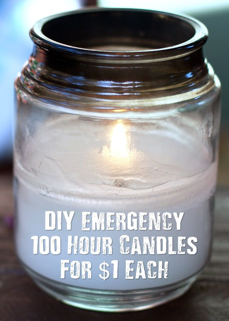 DIY Emergency 100 Hour Candles For $1 Each | Survival Ideas