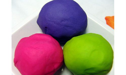 Using neon food coloring, you can make bright colored play ...
