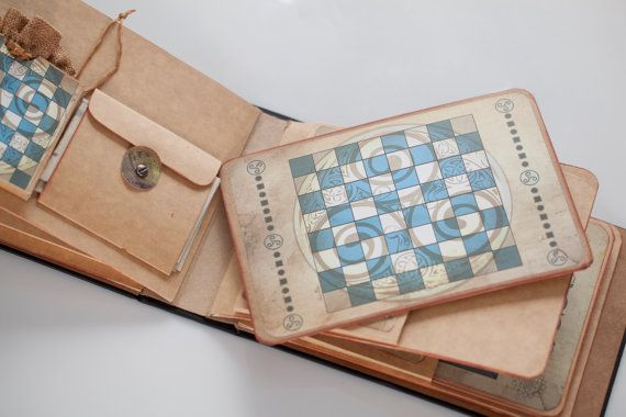 Album Libro Retro Vintage Con Tres Juegos De Mesa Por Buxaina