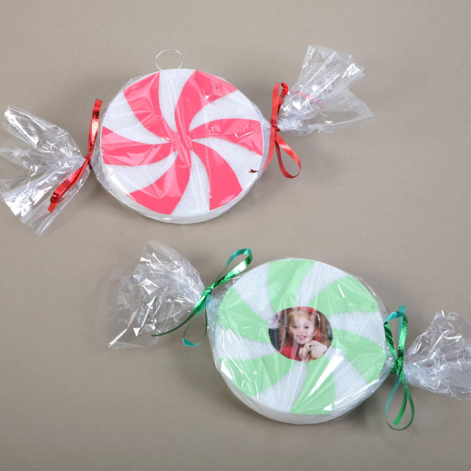 Dollartree Com Christmas Craft Idea Candy Swirl Ornaments