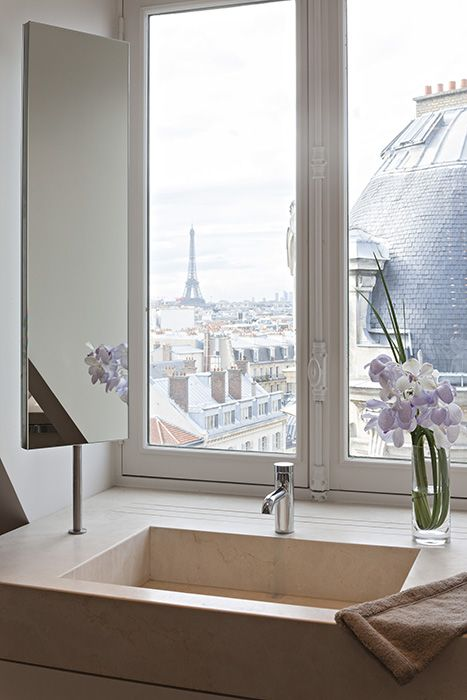 See the Eiffel Tower from your bathroom window