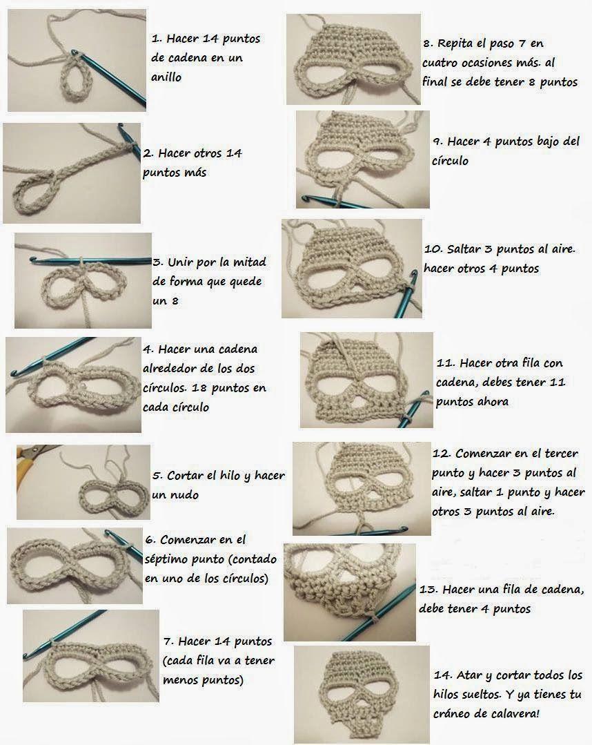 Patrones Crochet: Chal de Calaveras de Crochet Tutorial   DIY ...