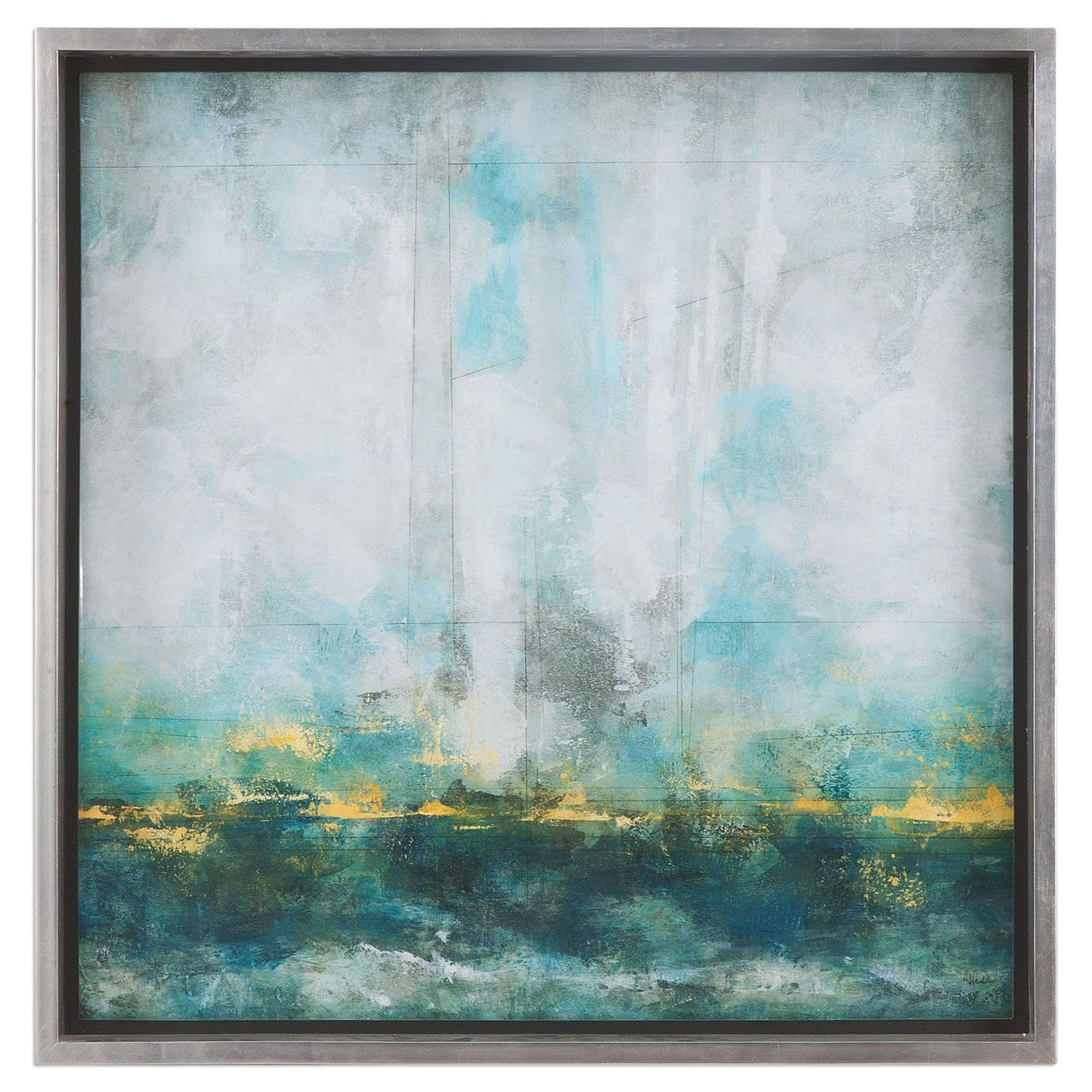 Aqua Blue By Grace Feyock 37 X Inch Wall Art Uttermost Home Decor