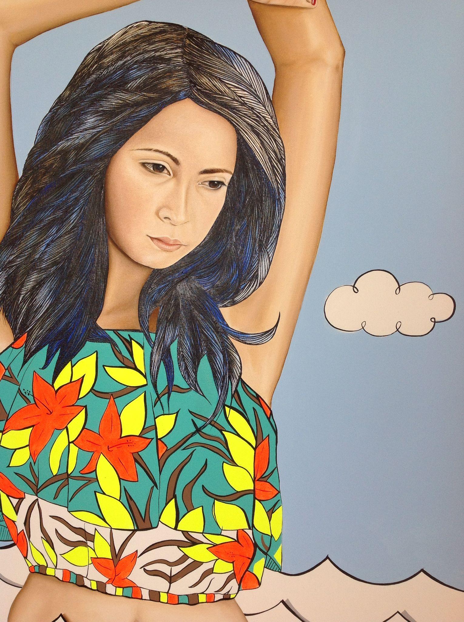 Mi obra es la mezcla de la ilustración y la pintura al oleo...Brenda Niebles Angulo.