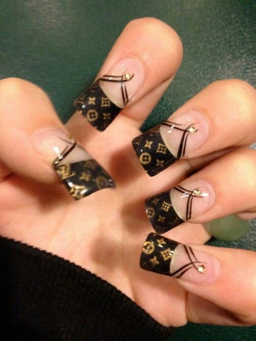LV nails   Nail Art   Pinterest   Creative nails, Nail salons and ...