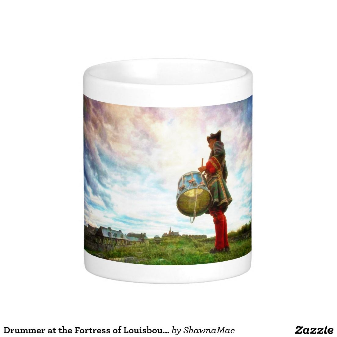 Drummer at the Fortress of Louisbourg Basic White Mug