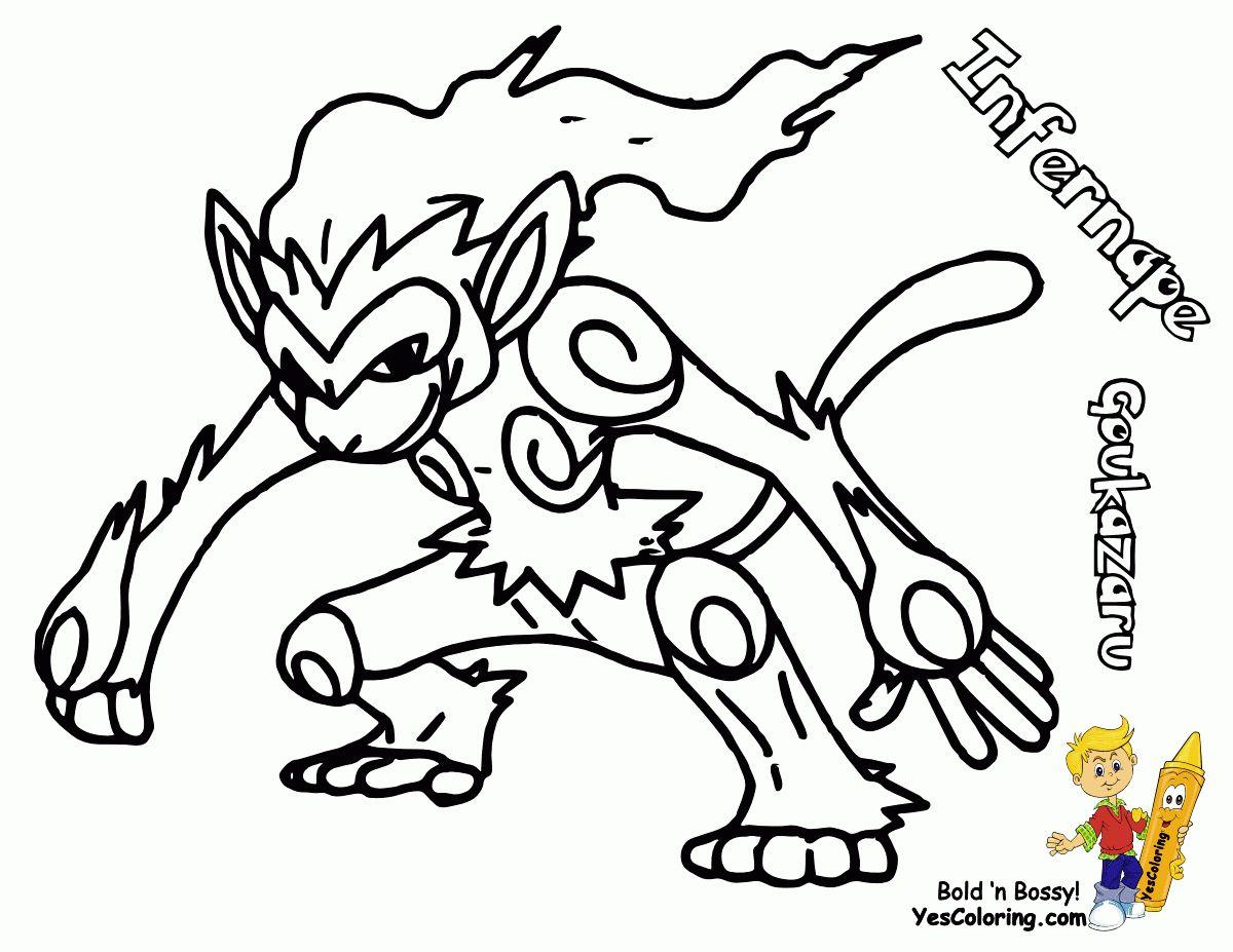 Pokemon Kleurplaten Infernape
