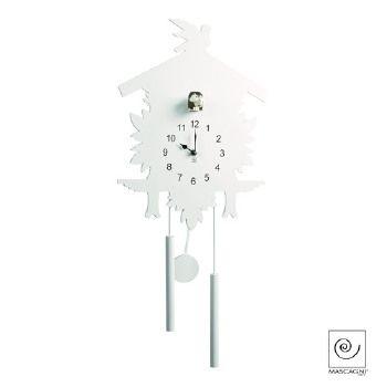 Mascagni orologio cucu da parete bianco 33x77 e pendolo for Idee per orologio da parete