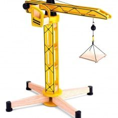 Crane With It S Working Pulley Mechanism This Wooden