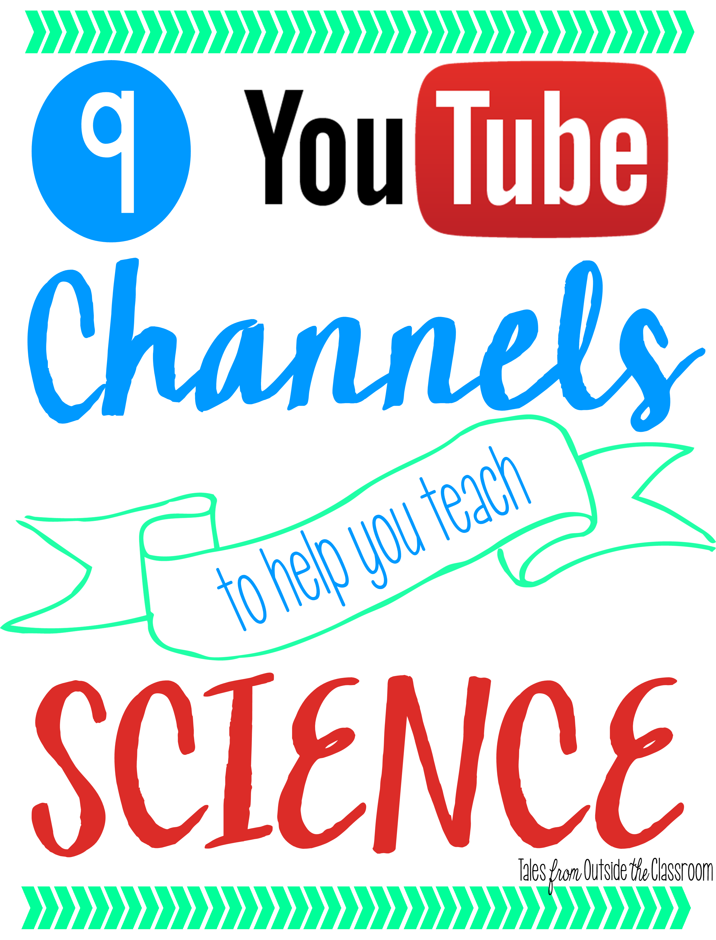 9 YouTube Channels to Help You Teach Science- a great collection that you can refer back to time after time