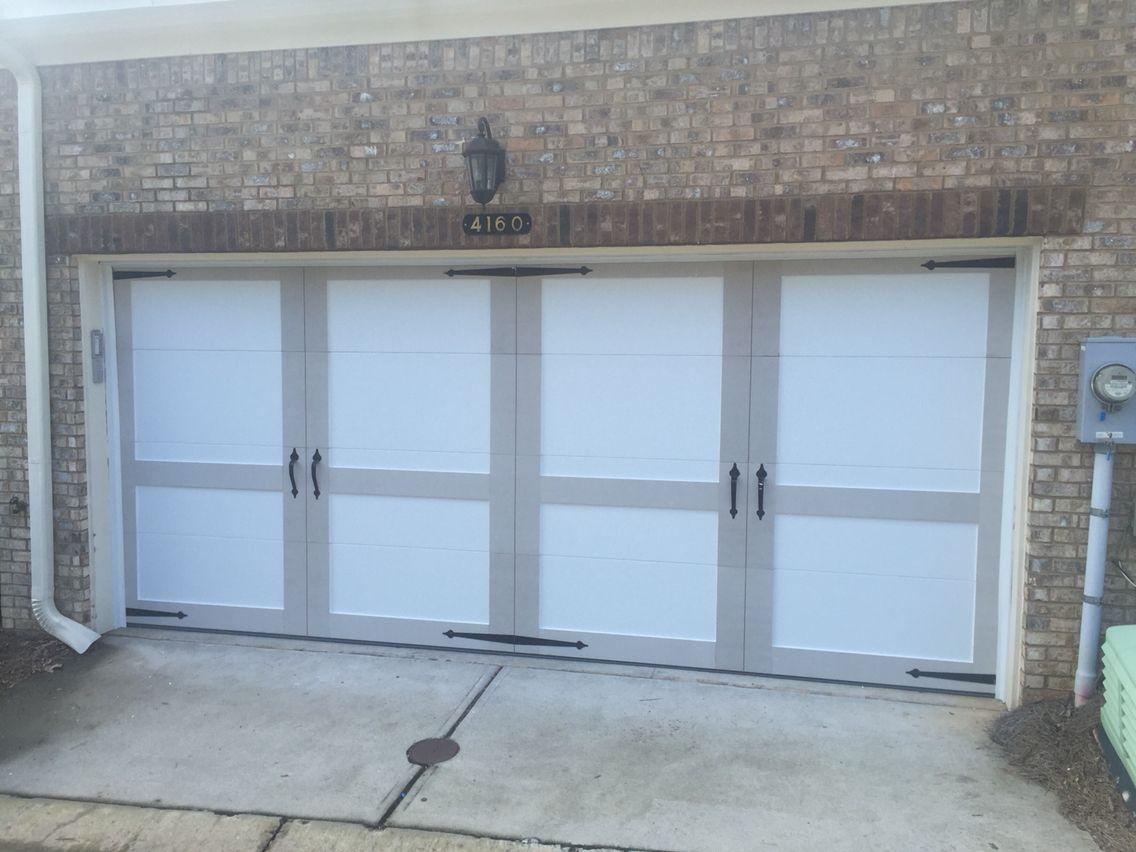 Custom Steel Garage Door With Overlay From Chi Steel Garage Doors
