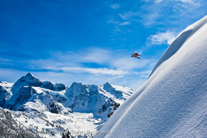 Carston Oliver skiing at Mt. Baker