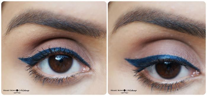 Mac Fluidline Pen Indelibly Blue Review Swatches Eotd Indian