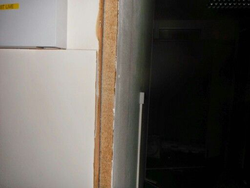 Close Up Of A Belgian Board Panel The Painted Asbestos Insulating Board Veneer Is On The Outside Of The Board Homeowner Asbestos London Uk