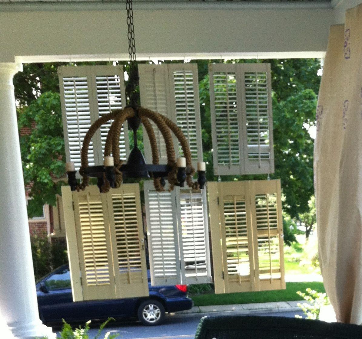 Hanging Shutter Screen