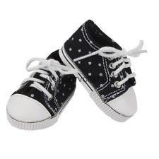 Turnschuhe Schuhe Mini Sneakers Shoes Schwarz fuer American Girl Puppen Doll Ia64fO8Q