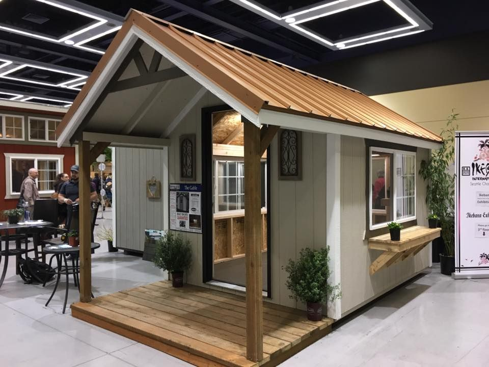 Gable style custom built garden shed mother in law home for Gable style shed