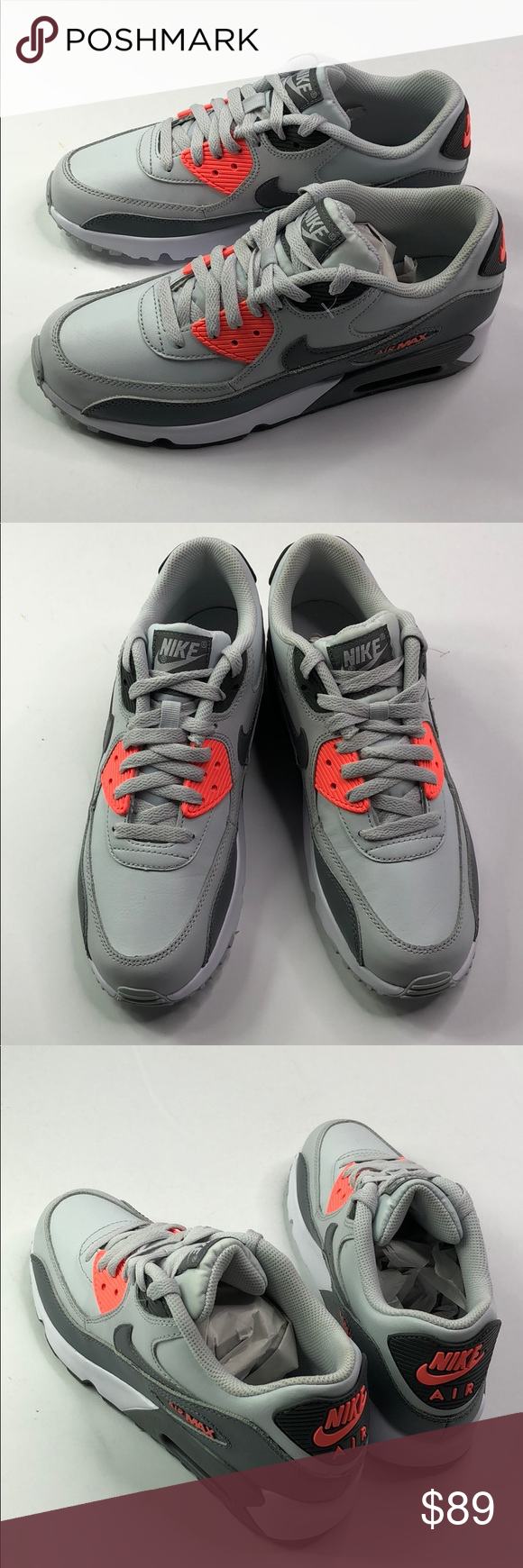 buy popular 24c23 b9518 Air Max 90 Leather GS Size-7 MEN 8.5 WOMEN PURE PLATINUM COOL GREY RELEASED  2016 DEADSTOCK WITHOUT ORIGINAL BOX Nike Shoes Sneakers