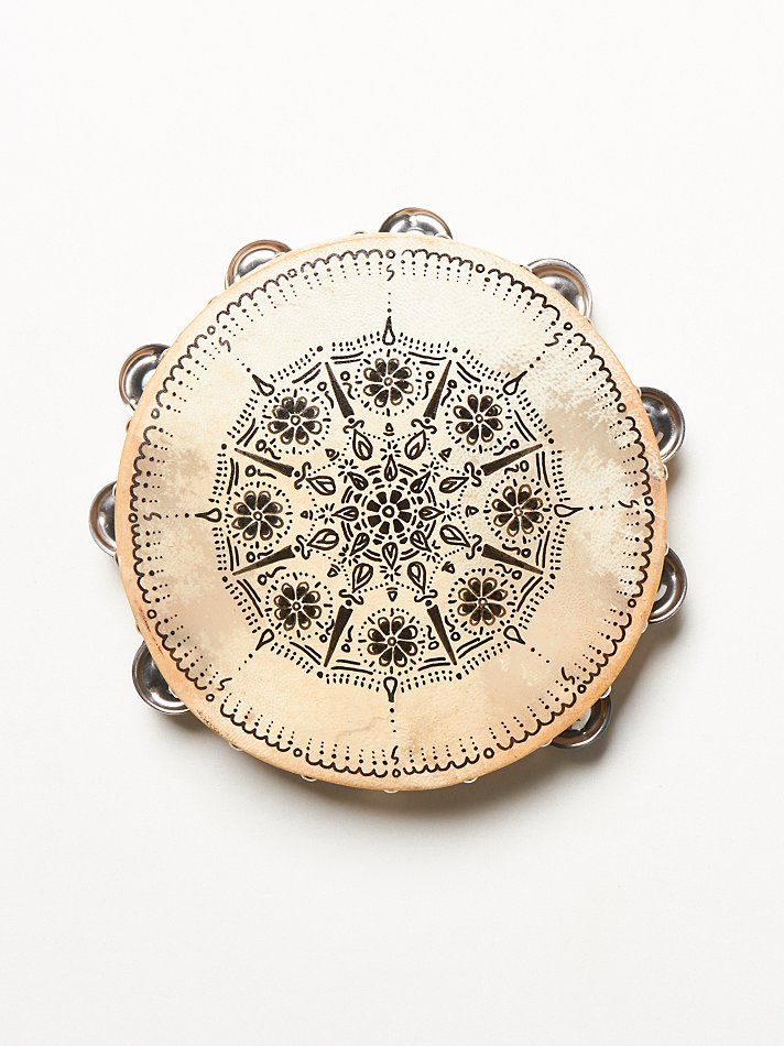 Free People Handpainted Tambourine at Free People Clothing Boutique