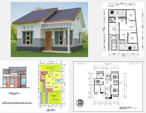 Denah Rumah Modern 3 Kamar Tidur Rumah Minimalis Construcao