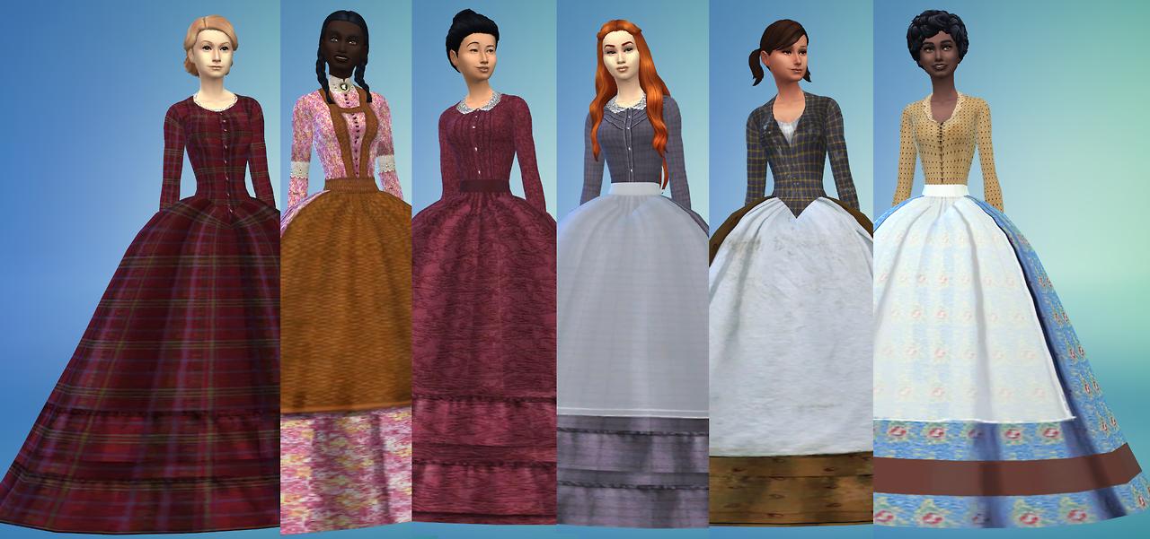 Sims4 Victorian Crinoline Dress download Sims 4