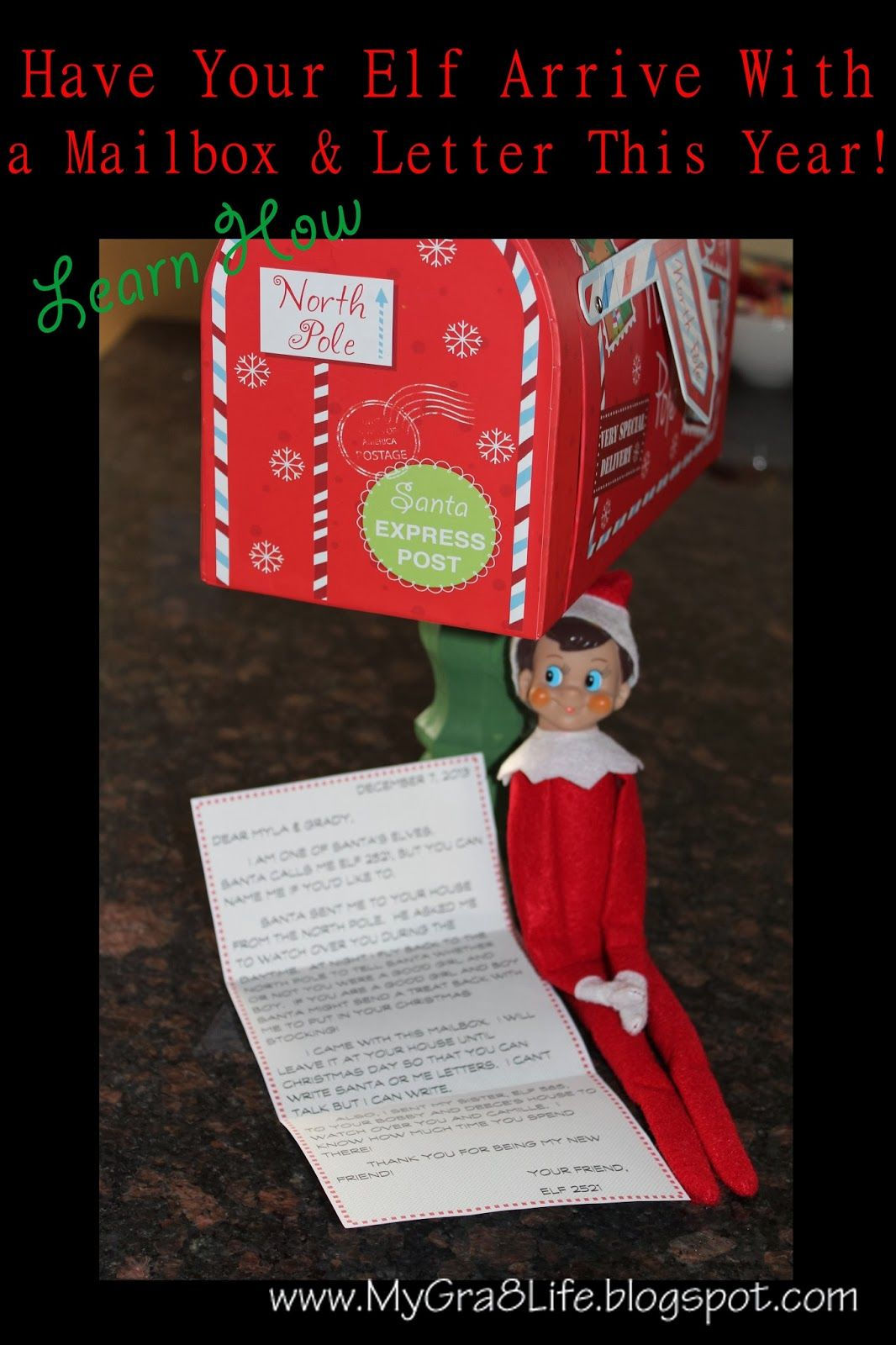 How to Create a Mailbox and Letter for Your Elf on the