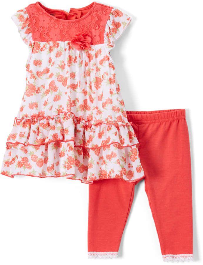 5eb35e4b194 Orange Floral Tunic   Leggings - Toddler   Girls