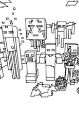 Here are the best Minecraft Mobs coloring pages