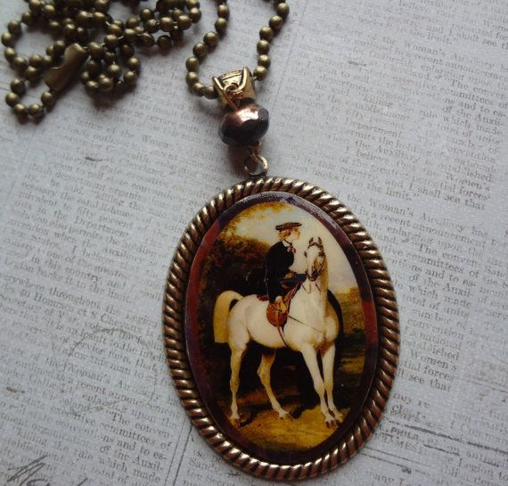 Sidesaddle Equestrian Necklace