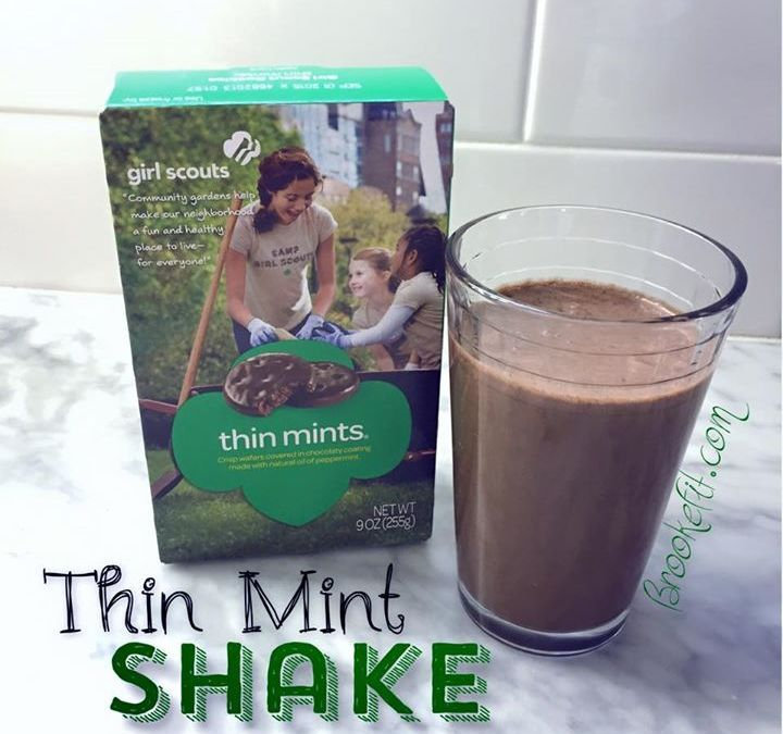 Skip the cookies!! Make a Healthy Thin Mint Shake! It is SO much more filling too!