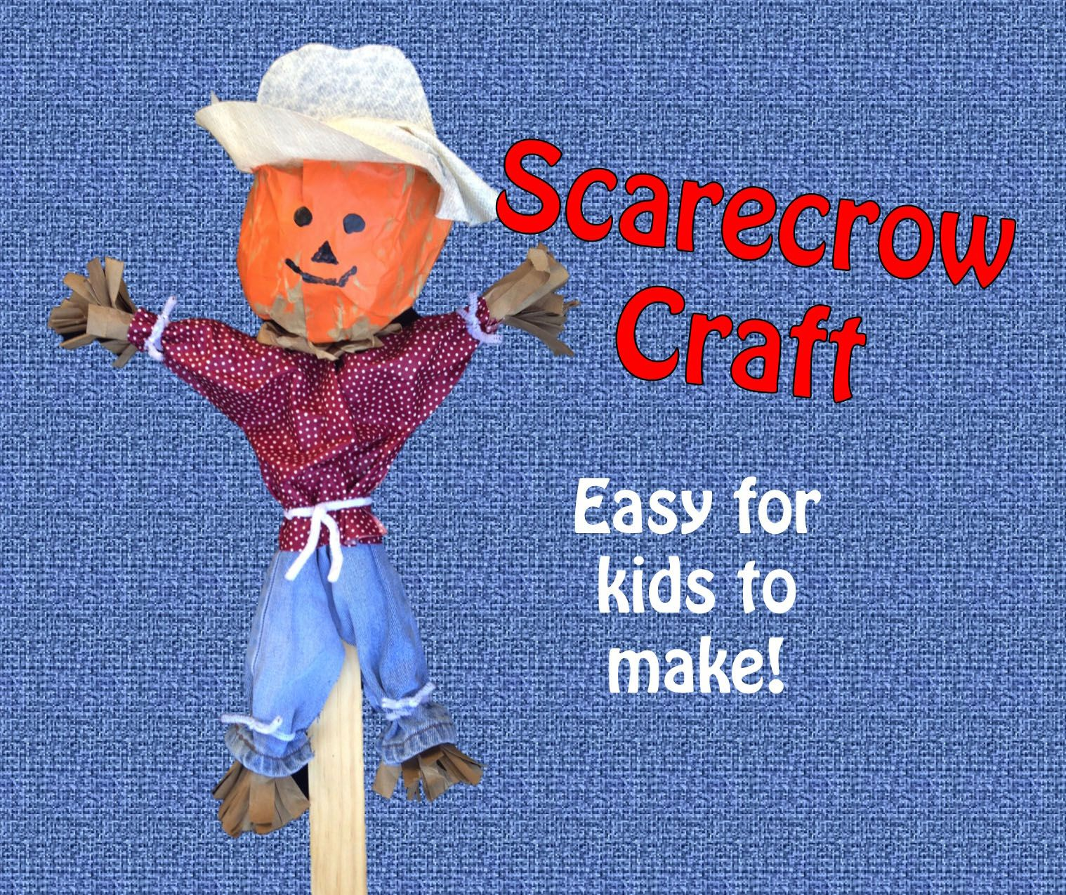 Scarecrow Craft This Is A Fun And Cute Craft To Make In