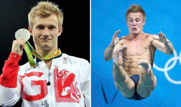 JACK LAUGHER won silver in the 3m springboard final.