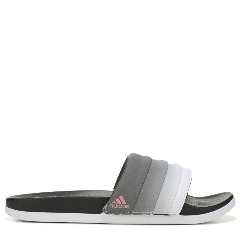 best sneakers 7e8ba 71b81 Adidas Womens Adilette Cloudfoam Slide Sandals (Core BlackTech Rust)