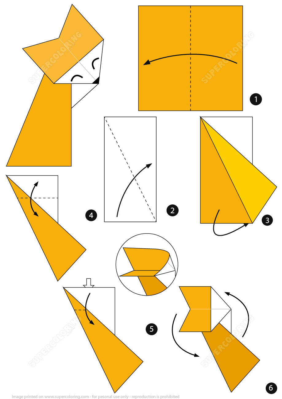 origami fox instructions free printable papercraft templates origami flower diagram origami illusion secret origami eagle diagram [ 919 x 1300 Pixel ]